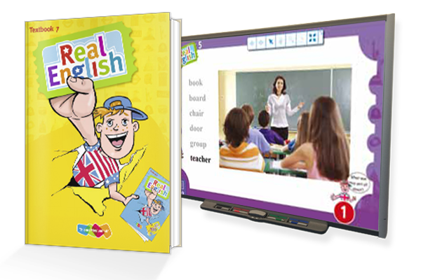 Real English boeken en digibord