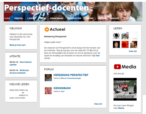 Perspectief docentenwebsite